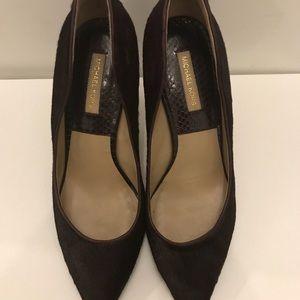 Michael Kors Avra Collection shoe. Hair calf.
